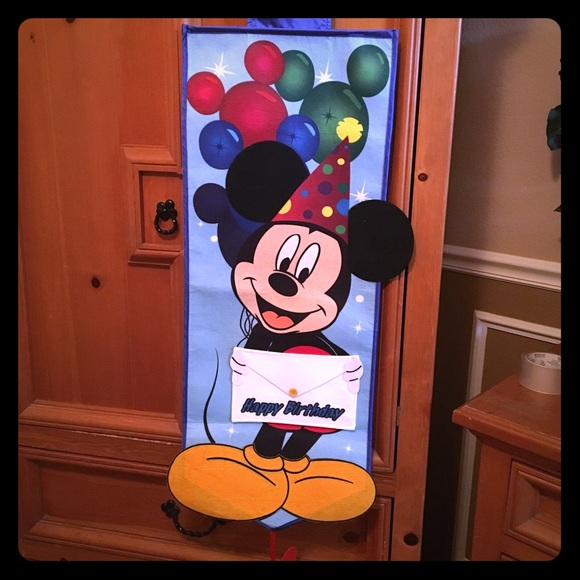 Disney Other Mickey Mouse Land Birthday Banner Poshmark